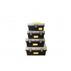 Details zu  4-Teiliges Werkzeugkoffer Werkzeugkasten Set (leer) Kunststoff XS S M XL