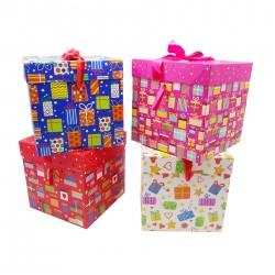 Geschenk Box Verpackung Karton 22x22x22 cm Geburtstag Birthday
