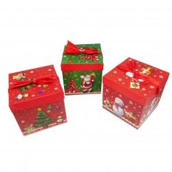Geschenk Box 22x22x22 cm Weihnachten Christmas Gemischte Motive
