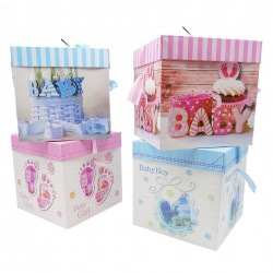 Geschenk Box Verpackung Karton 22x22x22cm Geburt Babyparty