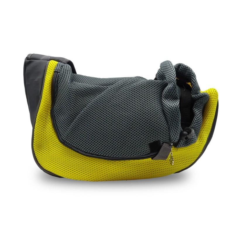 TA-03 Hundetasche Katzentasche Haustiertasche Transport Gelb Grau