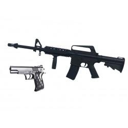Softair Gewehr + Pistole 9901 aus Plastik