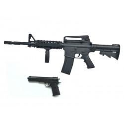 Softair Gewehr + Pistole 9902 aus Plastik