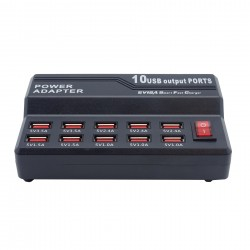 USB Schnellladegerä mit 10 USB Ports - USB-CH10