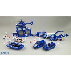 JDL137T Spielzeug Set Polizei mit Autos- Metall