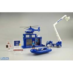 JZ2034T Spielzeug Set Polizei mit Autos - Metall
