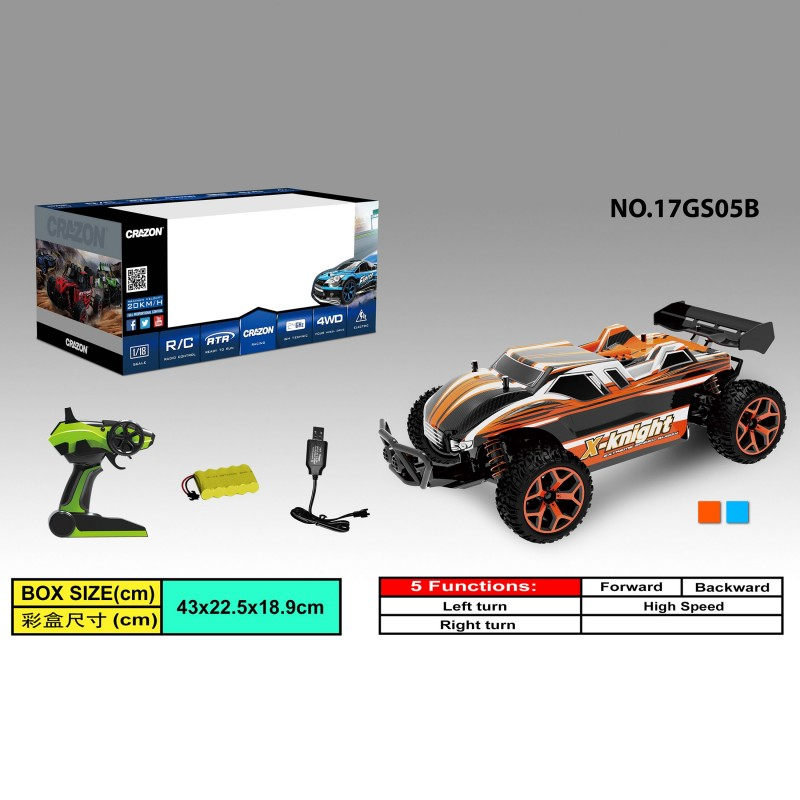 RC Auto Car 17GS05 High Speed Car Fernbedienung 2.4GHz 4WD 1:18