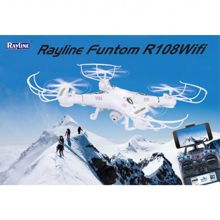 Rayline Funtom RC Drone R108 Wifi Quadrokopter mit Wifi camera