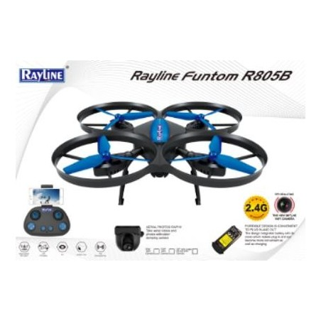Rayline Funtom R805B Wifi RC Drone 2,4G Quadrokopter mit Wifi camera