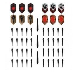 Rayline Sport 40x Kunststoffspitzen 3X Schaft 12x Flights für Dragoon/Ghoul Dartpfeile - für eDart u. elektronische Dartscheibe