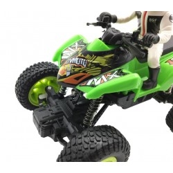 R/C Off-Road High-Speed Climbing Quad Bike mit Fahrer 1:20